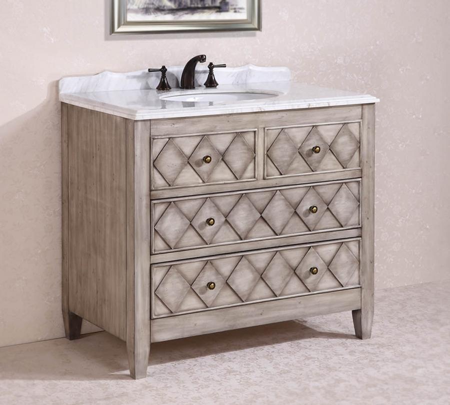 40 Inch Single Sink Bathroom Vanity in Antique Light Gray