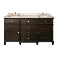 60 Inch Double Sink Bathroom Vanity with Choice of Top ...