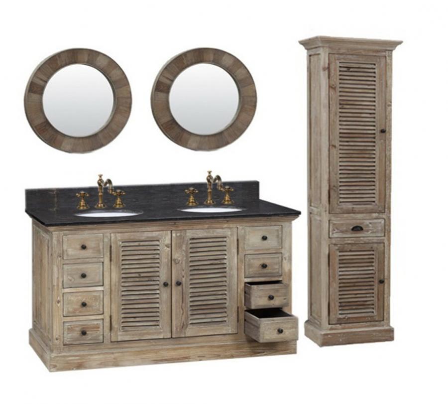60 inch double sink bathroom vanity in natural oak