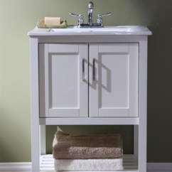 Floating Kitchen Cabinets Pre Assembled Online 24 Inch Narrow Single Sink Bathroom Vanity In White