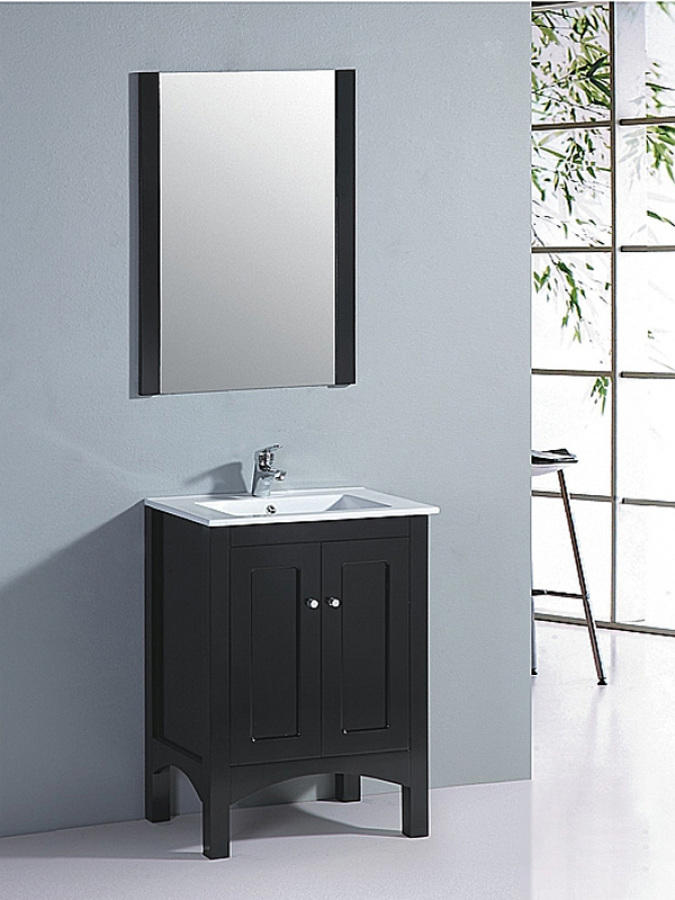 235 Inch Single Sink Bathroom Vanity with Matching Mirror