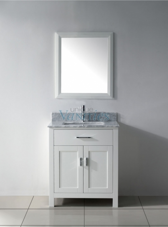 30 Inch Single Sink Bathroom Vanity in White UVABXKAWH30