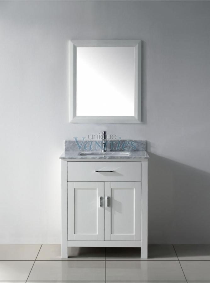 30 Inch Single Sink Bathroom Vanity in White UVABXKAWH30