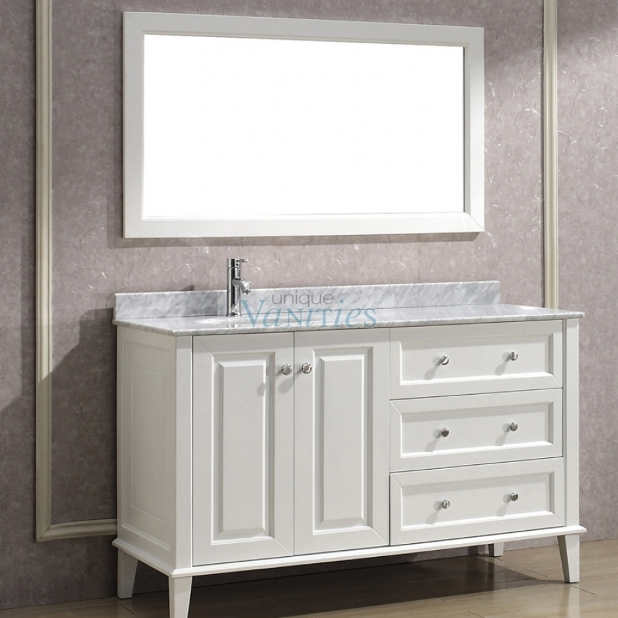 Vanities Bathroom 55 Inch Single Bath Vanity With Offset Sink On Left Side