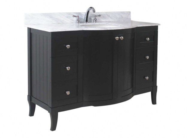 42 inch single sink modern bathroom vanity with dark mahogany finish