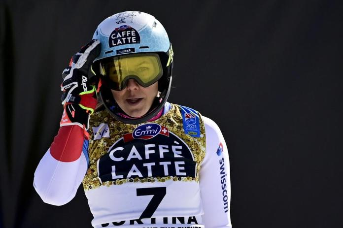 The medal just missed: Wendy Holdener finished fourth in the World Cup slalom in Cortina.