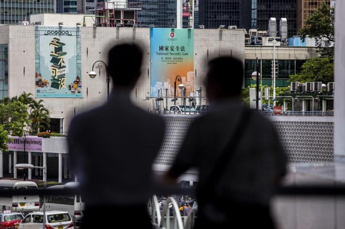 Pour l'opposition pro-démocratie de Hong Kong, cette loi est une attaque contre l'autonomie et les libertés du territoire. (Photo ISAAC LAWRENCE / AFP)