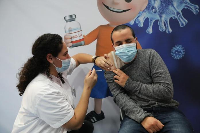 One of so far 4.25 million Israelis who have already received at least one vaccine dose.