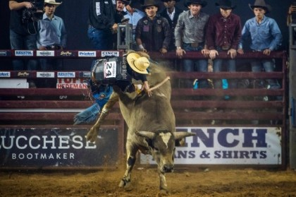 USA – Grip 8 seconds on a bull with one hand.