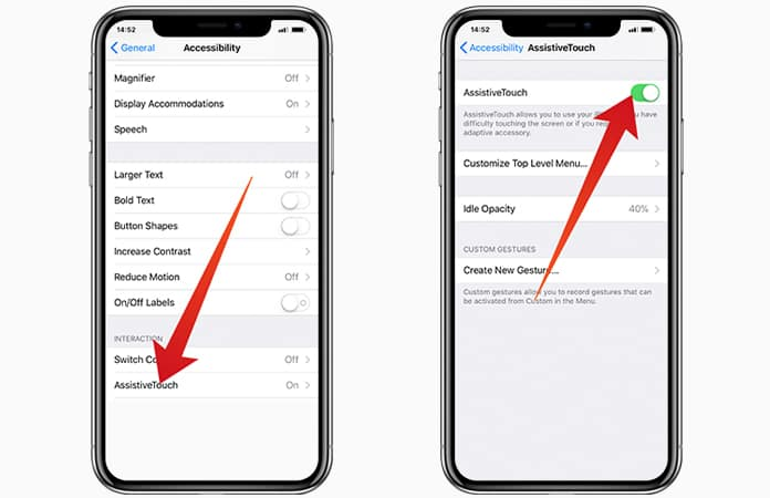 enable assistive touch on iphone x