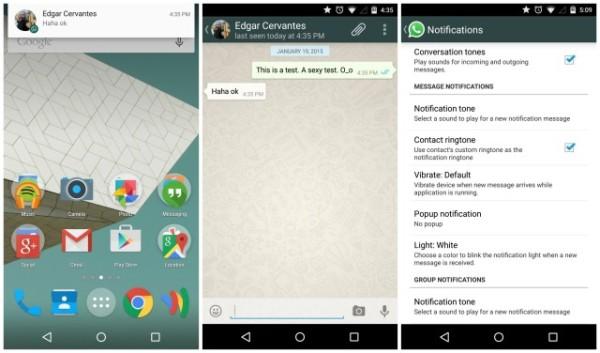不再亂 send 通知!Whatsapp 修正 Android 5.0 優先模式通知問題 - 香港 unwire.hk