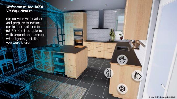 ikea kitchen remodel cost tall garbage can 試用htc vive vr 提供另類廚房裝修體驗 香港unwire hk 玩生活 樂科技 軟件利用epic games 開發的unreal engine 4 製作 用戶可以更換虛擬廚房內的吊櫃 廚櫃顏色 並且以成人或小童的角度觀看
