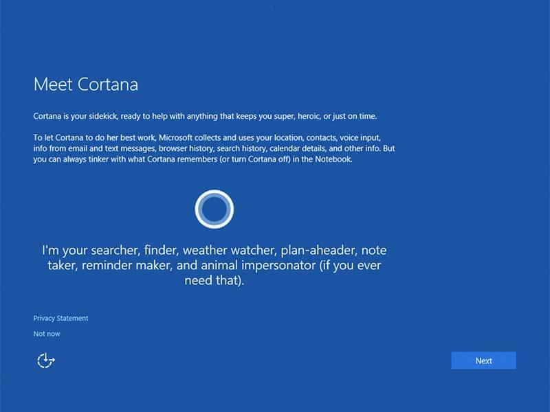 Microsoft 於 Windows 10 安裝程式收起 Cortana 避免阻礙用戶 - 香港 unwire.hk