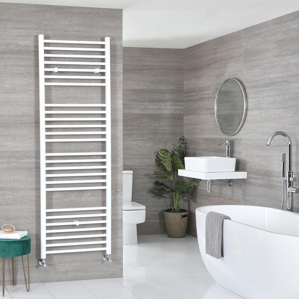 Ive White Hydronic Flat Towel Warmer 70 7 8 X 19 5 8