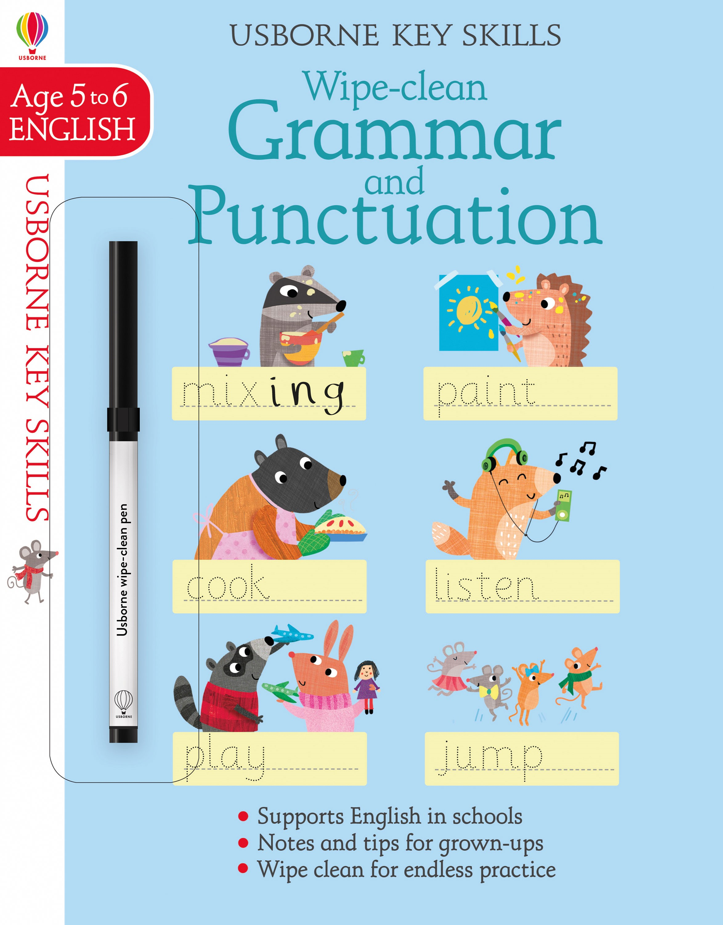 Wipe Clean Grammar And Punctuation 5 6 At Usborne Children S Books