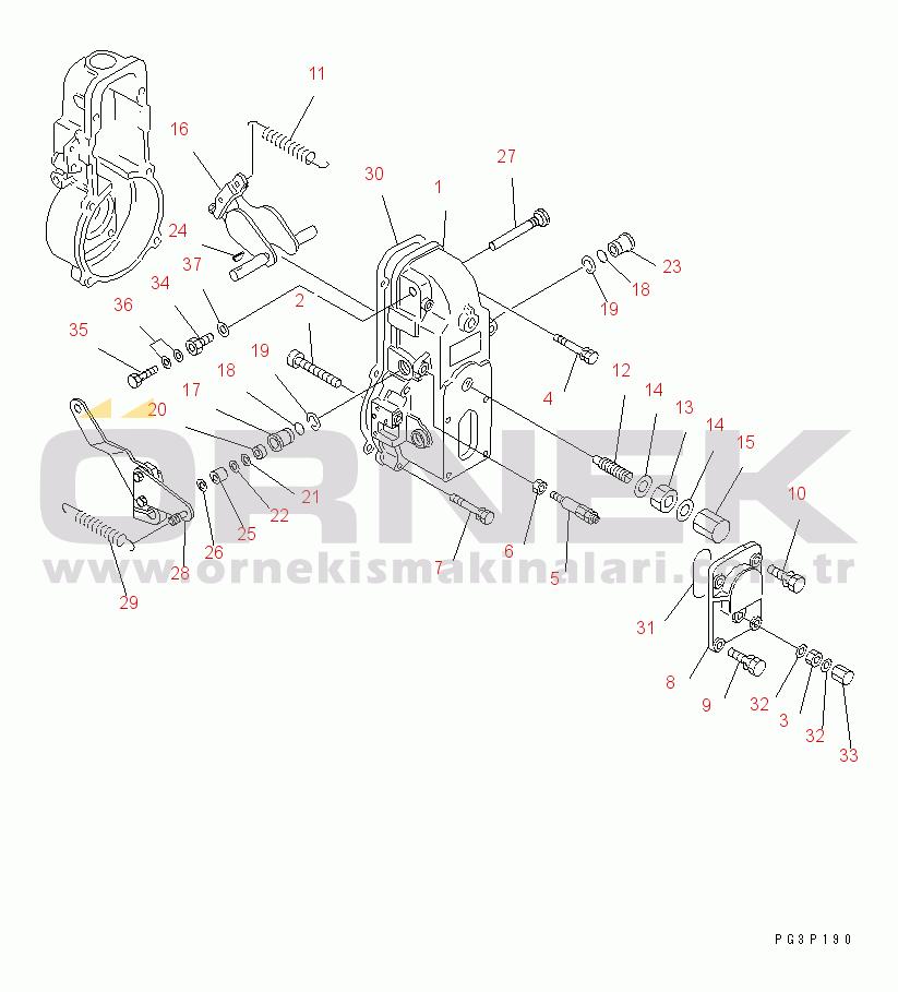 Komatsu 6D140-1A S/N 11200-UP DK1540105220