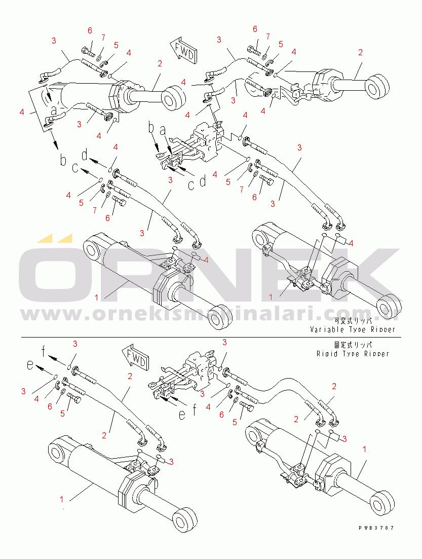 Komatsu D375A-3A S/N 17001-UP (7 Track Roller) 19563X1450