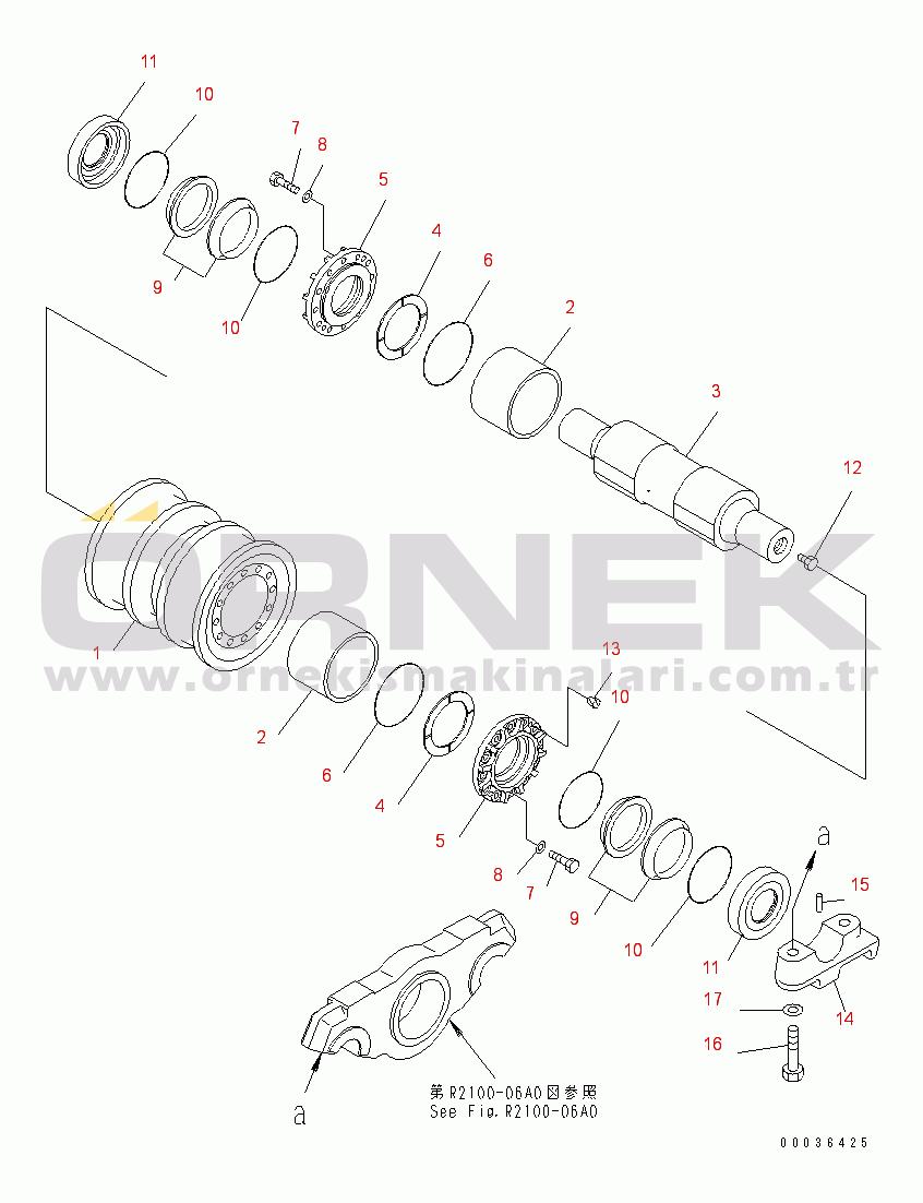 Komatsu D375A-5 S/N 18001-UP 0164332780
