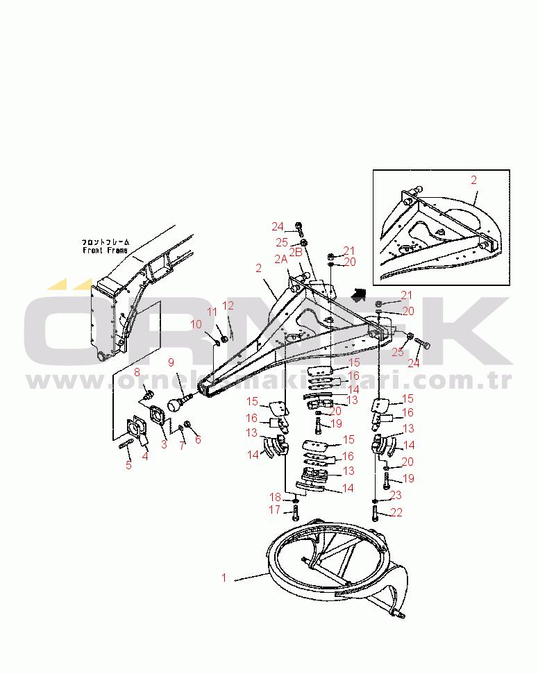 Komatsu GD555-3C S/N B15001-UP 23B7051550