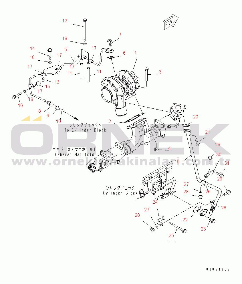 Komatsu SAA6D125E-5D-01 S/N 560001-UP 0164331032