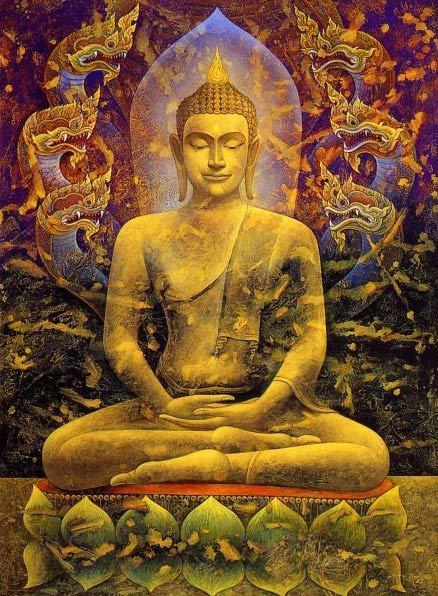 Stock Illustration Buddha meditaation aikana