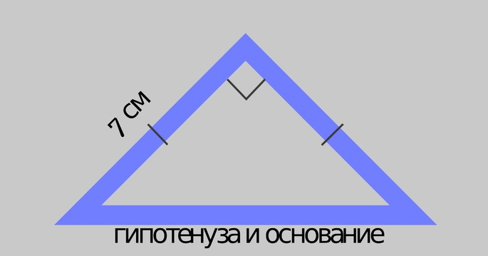 Тең үшбұрыш: екі санат тең, олардың арасында түзу бұрыш, гипотенуза бір уақытта