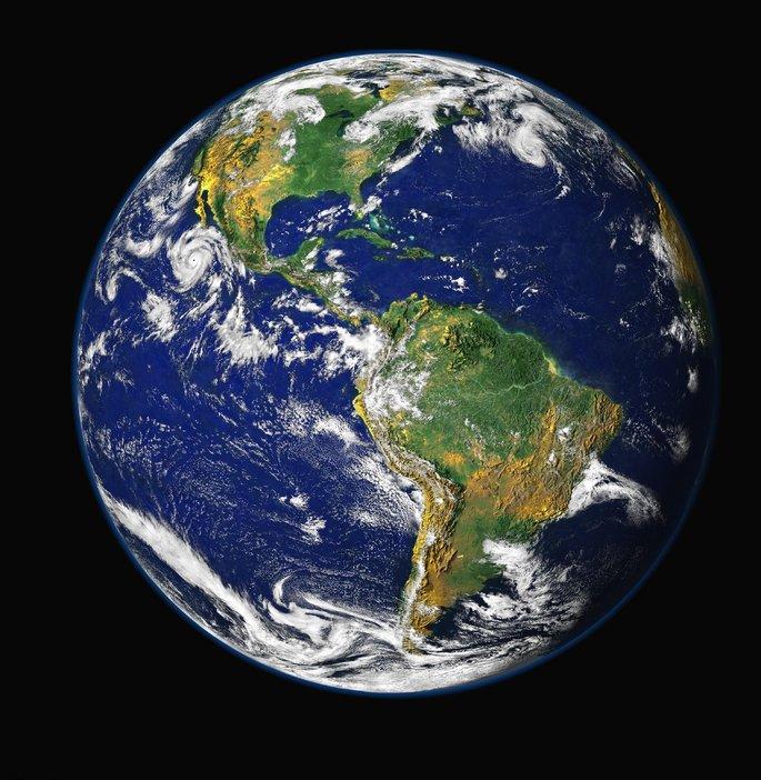 Күн жүйесіндегі Жер планетасы