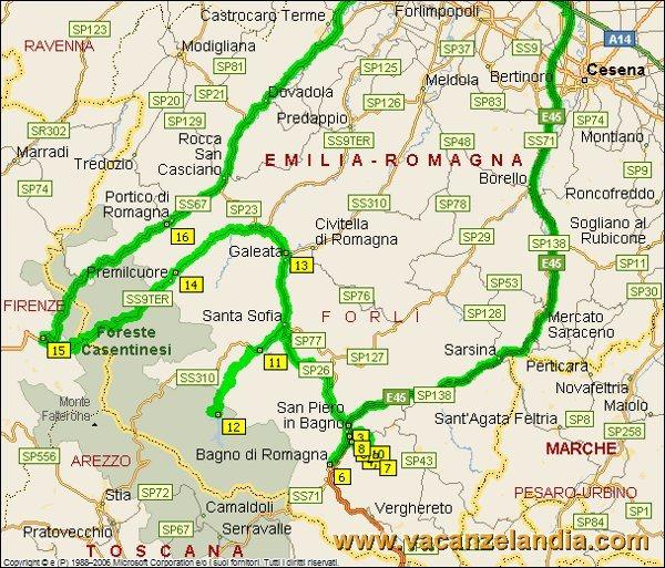 Itinerari Diari di Viaggio Emilia Romagna  Toscana Bagno
