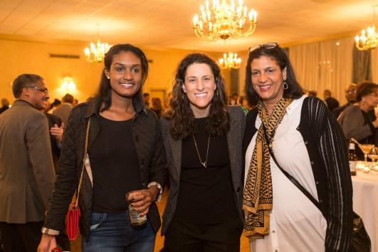 L-r: Samantha Williams, Coach Stephanie White and Gail Carr Williams