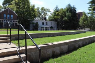 """After"" photo of the Green in the transformed West End Neighborhood. (Vanderbilt University)"