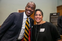 (L to r) Board of Trust members Kito Huggins, BS'96, JD'99, and Shirley M. Collado, BS'94 at the Posse Scholars 30th anniversary celebration at Vanderbilt University. (Anne Rayner/Vanderbilt)