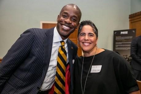 (L to r) Board of Trust members Kito Huggins, BS'96, JD'99, and Shirley M. Collado, BS'94 at the Posse Scholars 30th anniversary celebration at Vanderbilt University. (Anne Rayner/Vanderbilt)