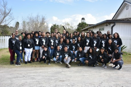 "Students on the Black History Immersion Excursion. ""Perhaps the most impactful destination on the excursion was the visit to the Whitney Plantation,"" said Noble. (Rosevelt Noble/Vanderbilt)"