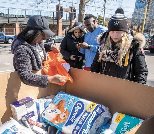 photo of Vanderbilt Athletics donation drive for tornado victims