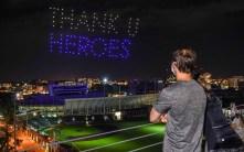 Drone light display tribute