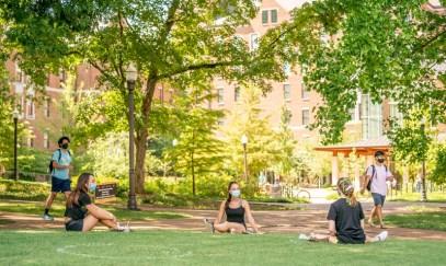 Students around campus practice healthy behaviors.