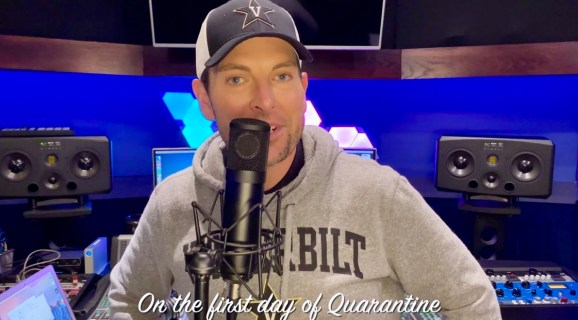 Chris Mann, a 2004 classical voice graduate from the Blair School of Music, put a Vanderbilt twist on some of his now famous quarantine song parodies that have given him millions of views on his YouTube channel and social media.