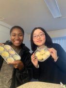 Baking with a friend when Chen was living on campus before COVID.