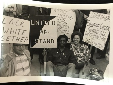 Upton's grandfather led Chicago's North Side chapter of the Congress for Racial Equality (CORE) during the civil rights movement in the 1960s.