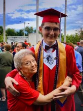 Clark and his beloved grandmother.