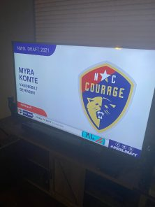 Konte took this image the night she was drafted by the North Carolina Courage.