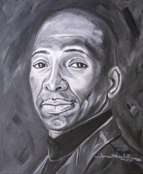 Legacy Pioneer Portrait of Frank Dobson by artist James Threalkill