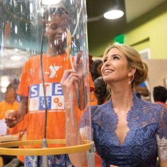 photo of Ivanka Trump at a science fair