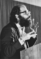 """Beat"" poet and counterculture leader Allen Ginsberg"