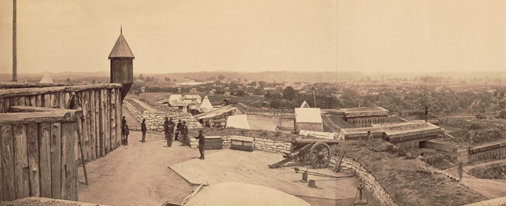 photo of Fort Negley taken in 1862