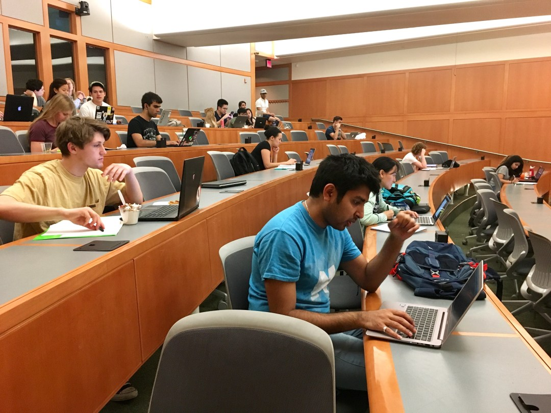 A CS Study Night during the weekend before finals, providing tutors, TAs, and snacks.