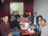 David's farewell lunch at the University of Edinburgh 2013