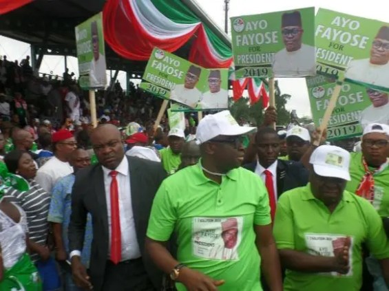 Image result for photos of Fayose launches presidential bid