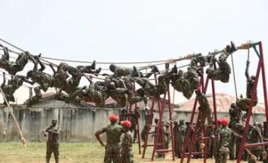 Photos: Nigerian Army recruits in training at Depot in Zaria - Hidira