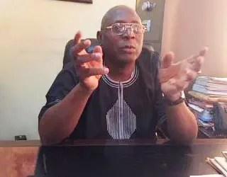 *President of NUCFRLANMPE, Olatunji Babatude 'Goke.